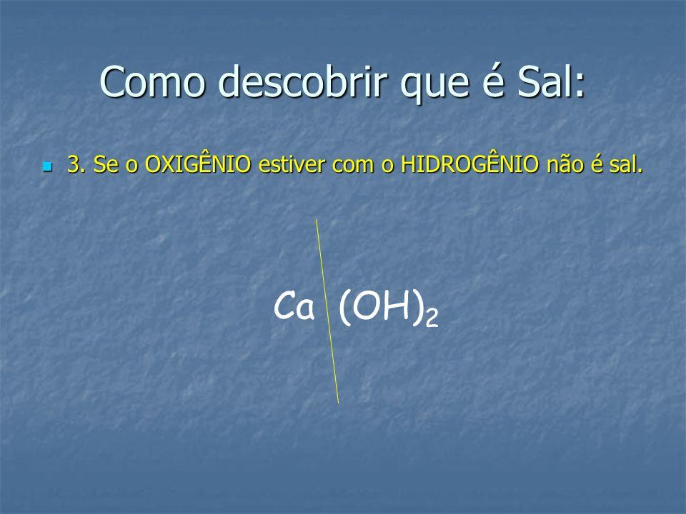 Como descobrir que é Sal: