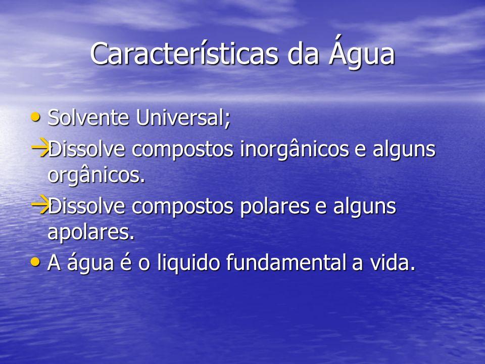 Características da Água