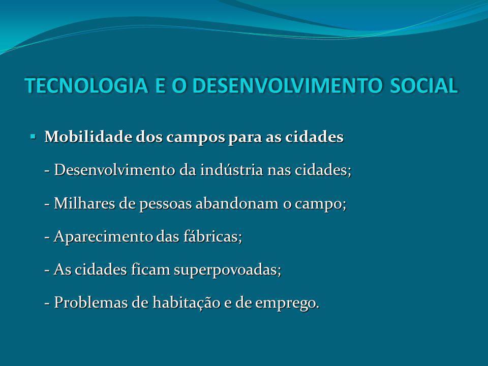 TECNOLOGIA E O DESENVOLVIMENTO SOCIAL