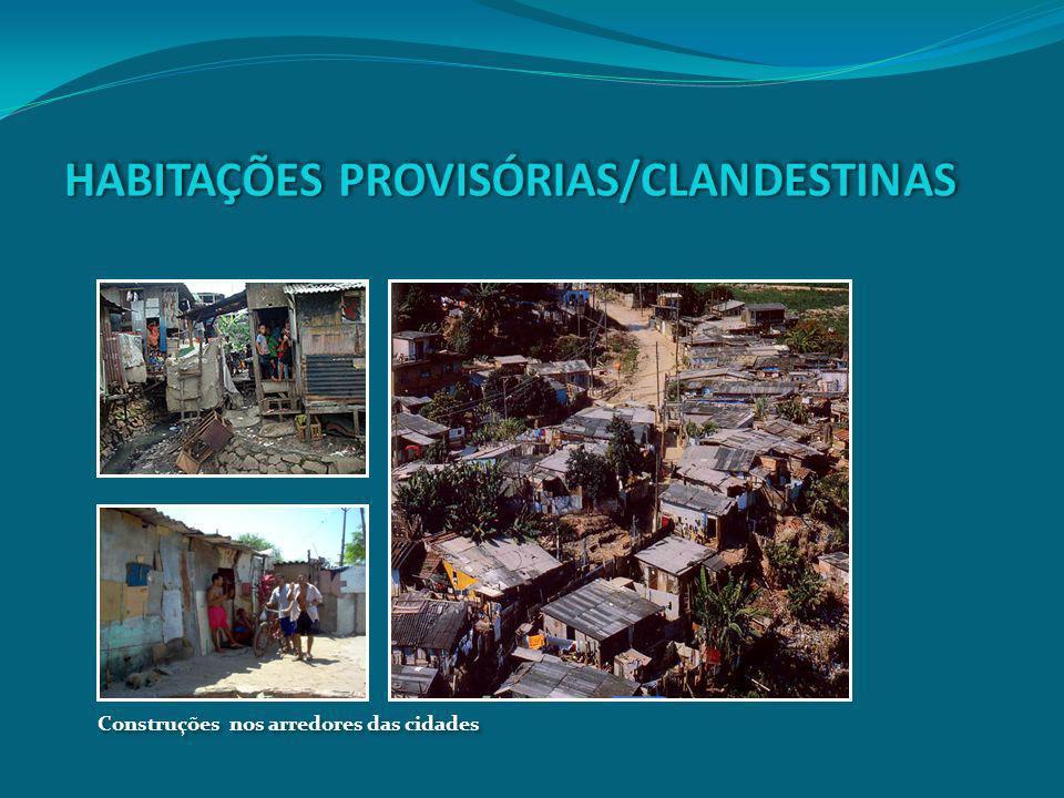 HABITAÇÕES PROVISÓRIAS/CLANDESTINAS