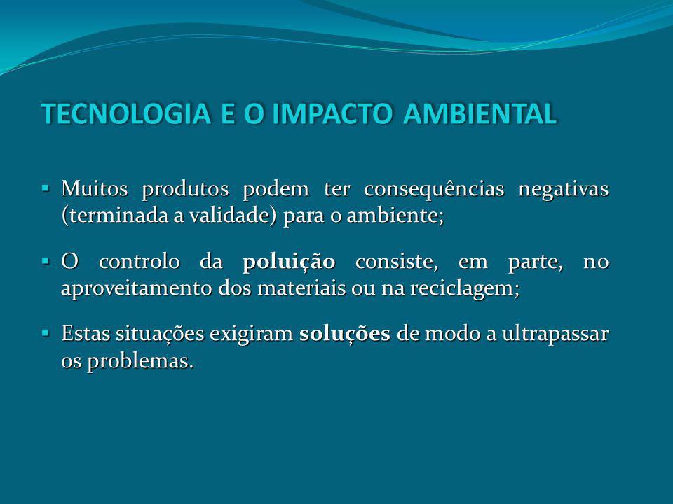TECNOLOGIA E O IMPACTO AMBIENTAL