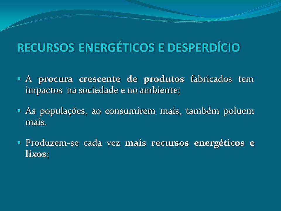RECURSOS ENERGÉTICOS E DESPERDÍCIO
