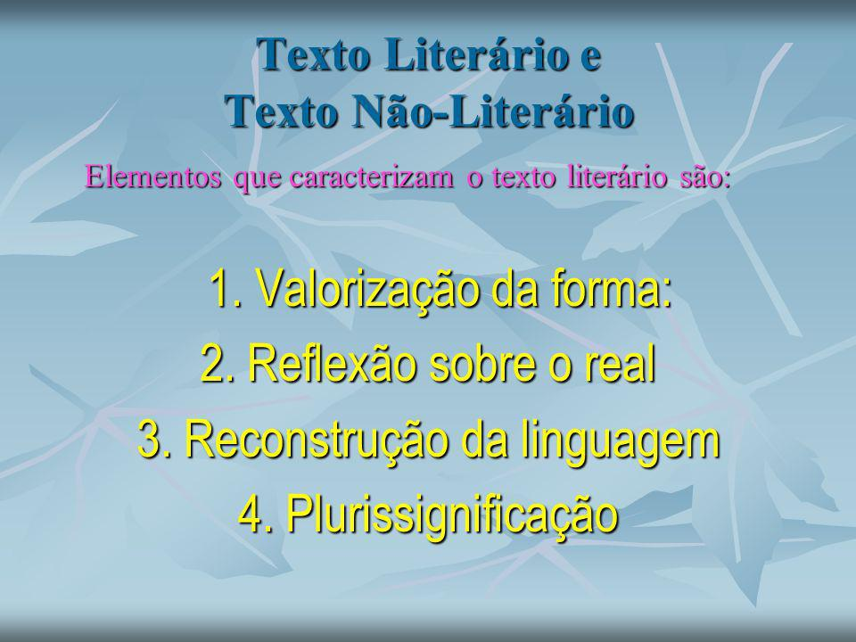 Texto Literário e Texto Não-Literário