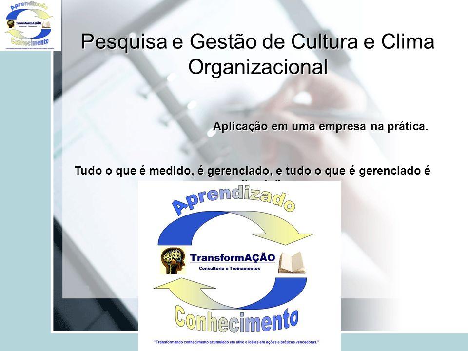 Pesquisa e Gestão de Cultura e Clima Organizacional