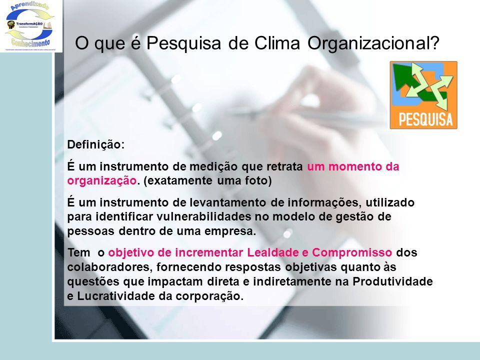 O que é Pesquisa de Clima Organizacional