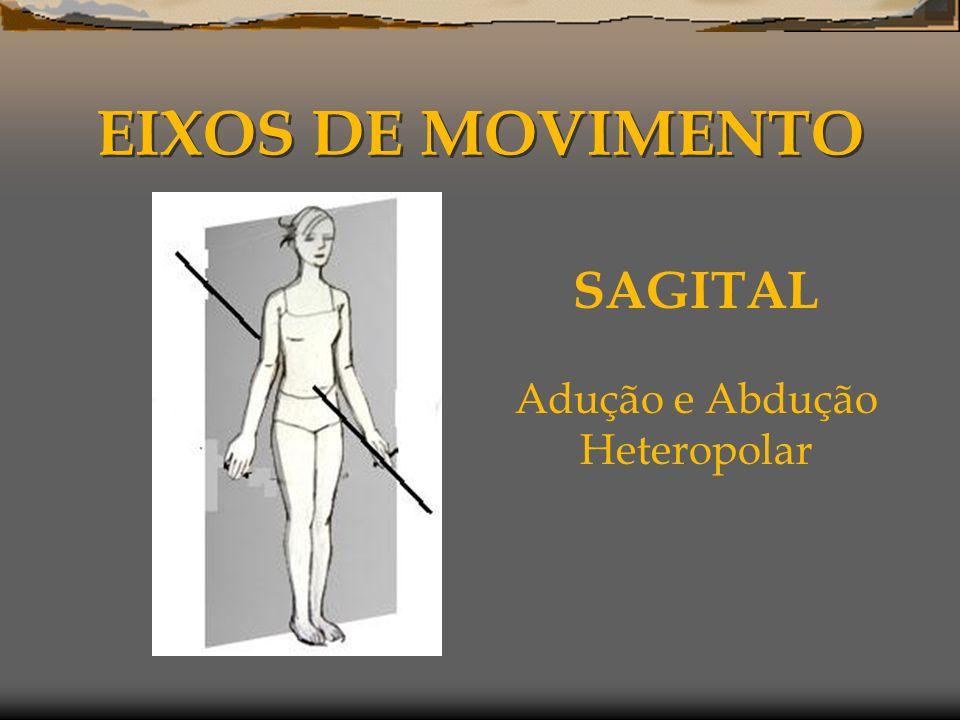 EIXOS DE MOVIMENTO SAGITAL Adução e Abdução Heteropolar