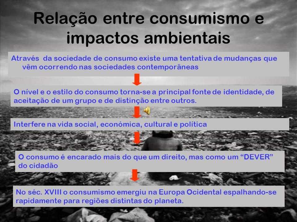 Relação entre consumismo e impactos ambientais