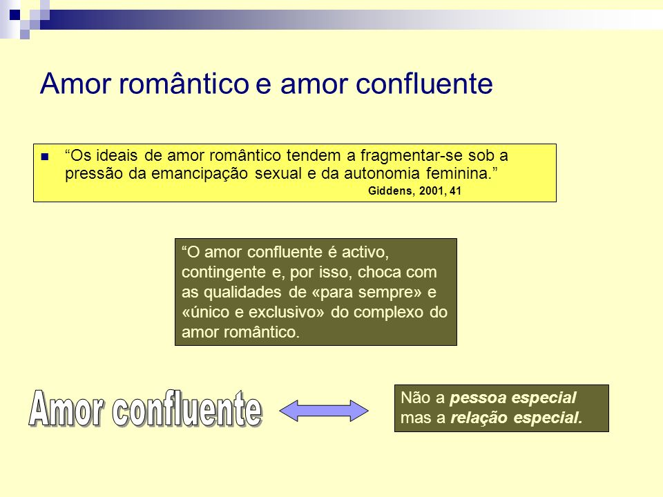 Amor romântico e amor confluente