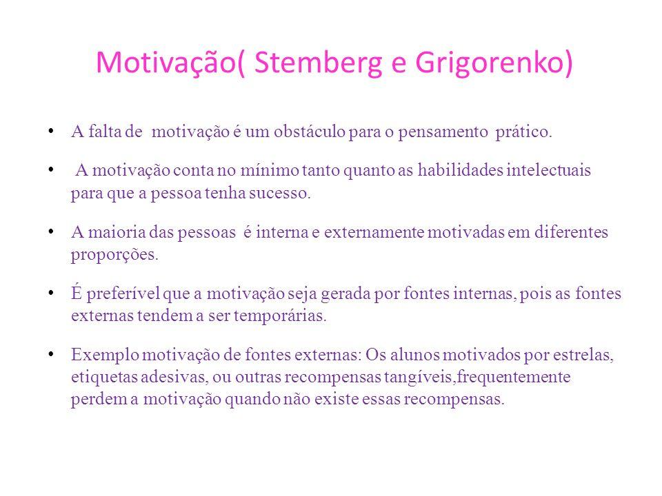 Motivação( Stemberg e Grigorenko)