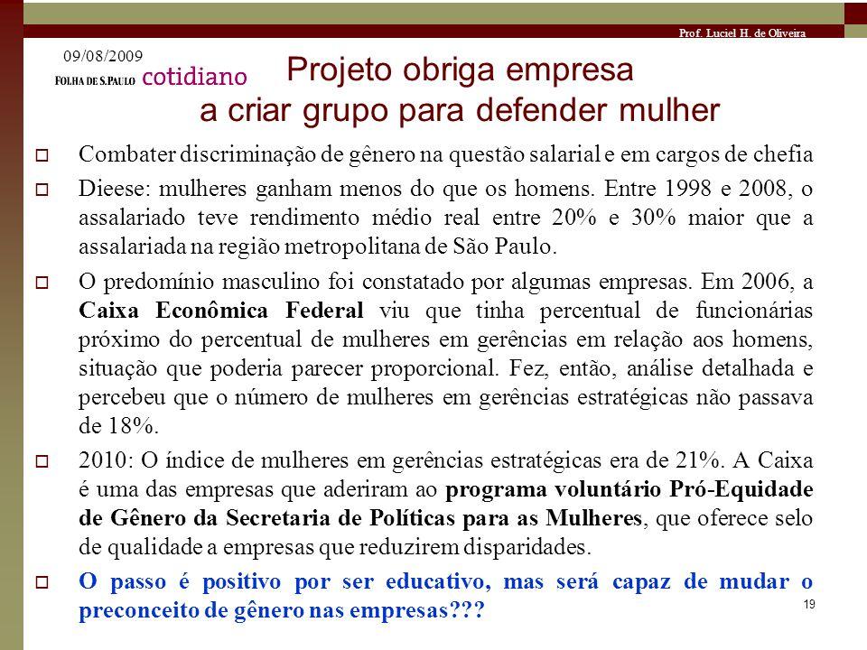 Projeto obriga empresa a criar grupo para defender mulher