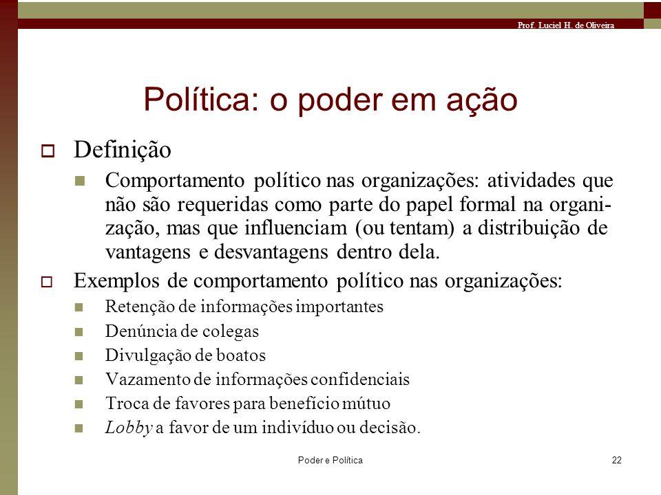 Política: o poder em ação