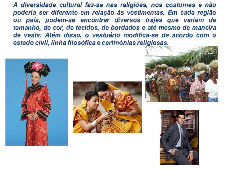A diversidade cultural faz-se nas religiões, nos costumes e não poderia ser diferente em relação às vestimentas.