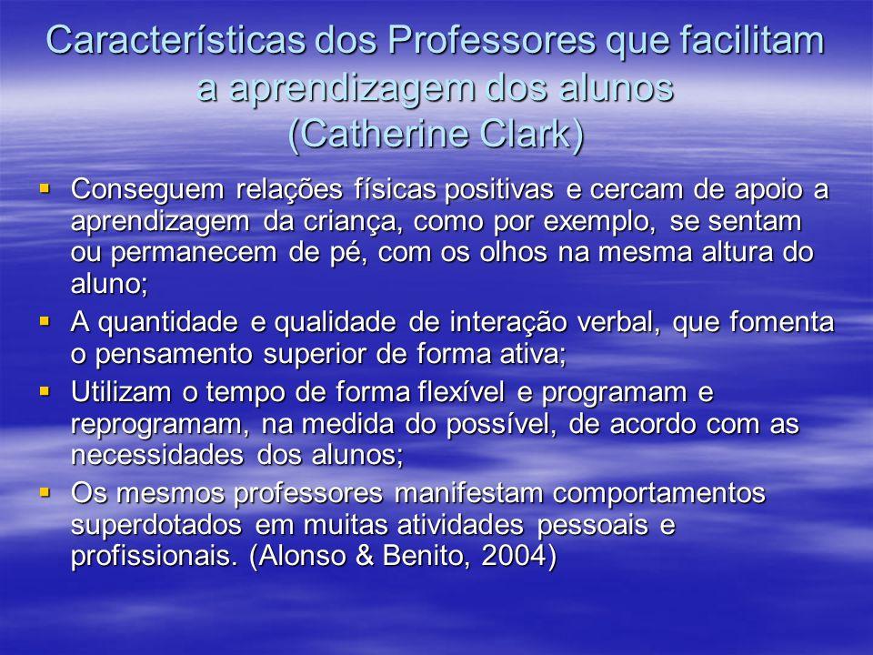 Características dos Professores que facilitam a aprendizagem dos alunos (Catherine Clark)