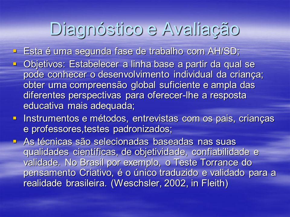 Diagnóstico e Avaliação