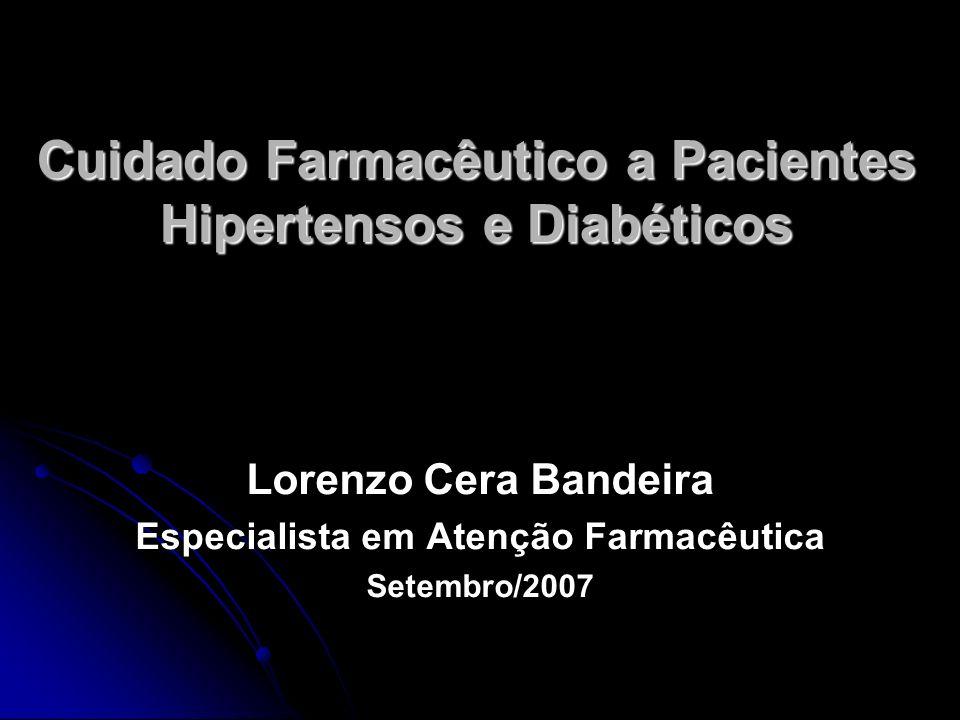 Cuidado Farmacêutico a Pacientes Hipertensos e Diabéticos