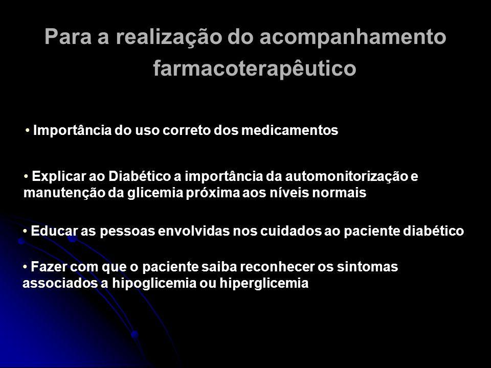 Para a realização do acompanhamento farmacoterapêutico