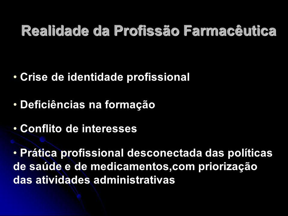 Realidade da Profissão Farmacêutica