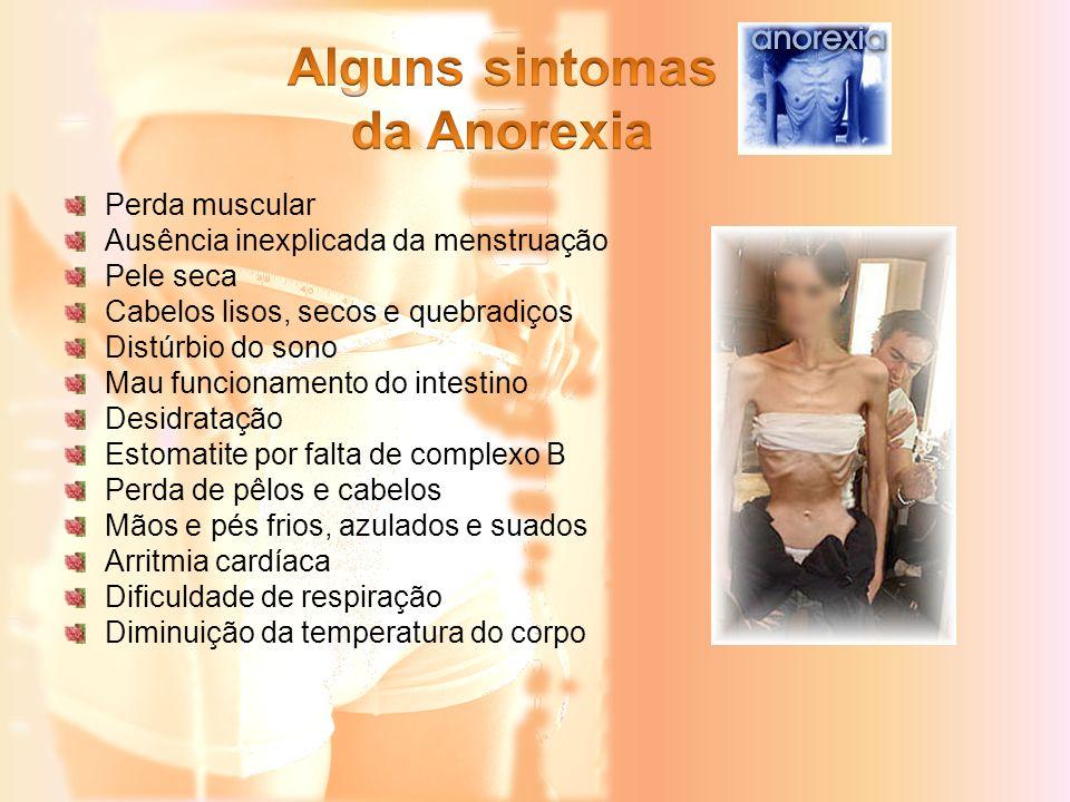 Alguns sintomas da Anorexia