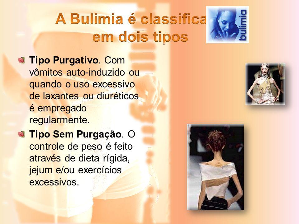 A Bulimia é classificada em dois tipos