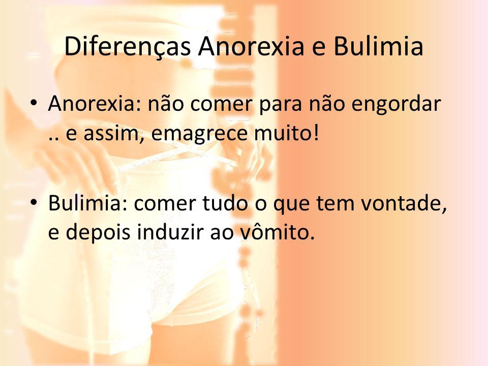 Diferenças Anorexia e Bulimia