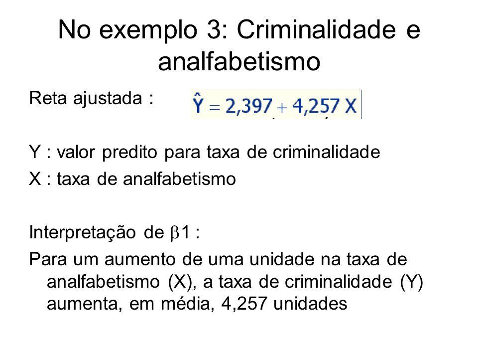No exemplo 3: Criminalidade e analfabetismo