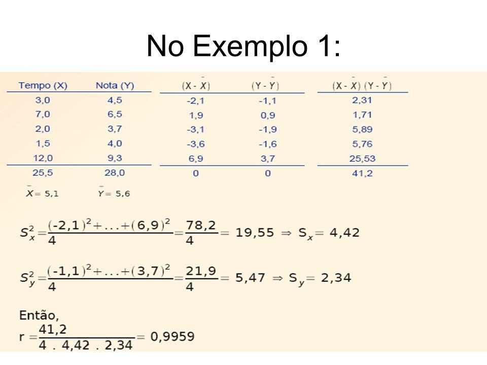 No Exemplo 1: