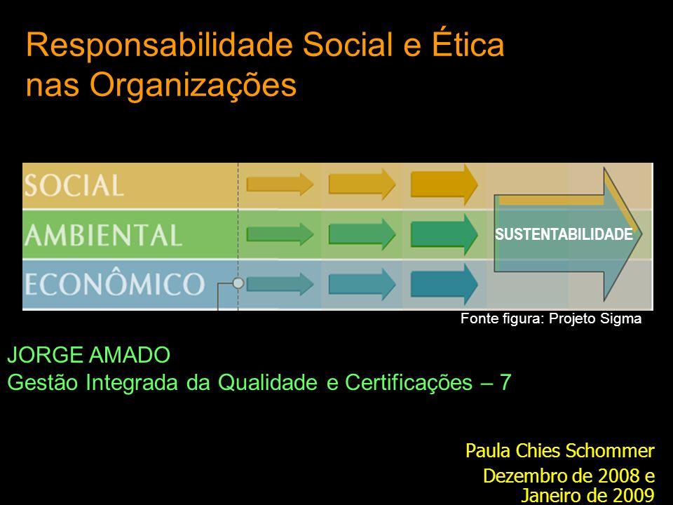 Responsabilidade Social e Ética nas Organizações