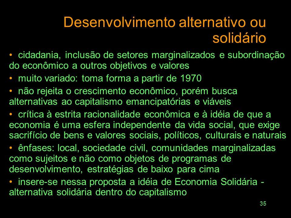 Desenvolvimento alternativo ou solidário
