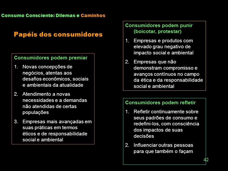 Papéis dos consumidores