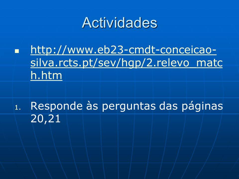 Actividades http://www.eb23-cmdt-conceicao-silva.rcts.pt/sev/hgp/2.relevo_match.htm.