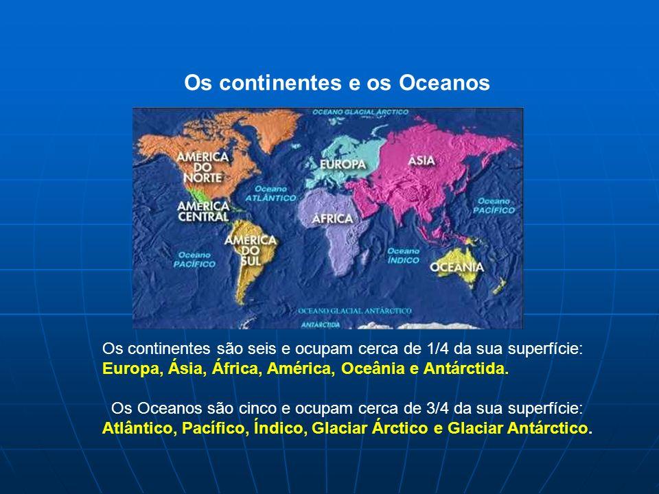 Os continentes e os Oceanos