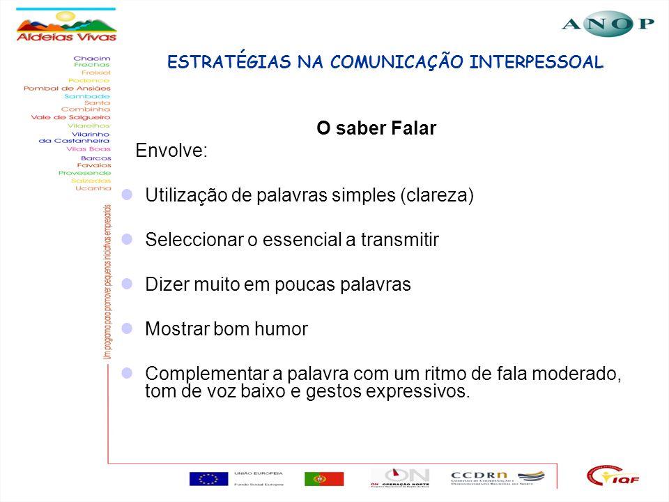 ESTRATÉGIAS NA COMUNICAÇÃO INTERPESSOAL