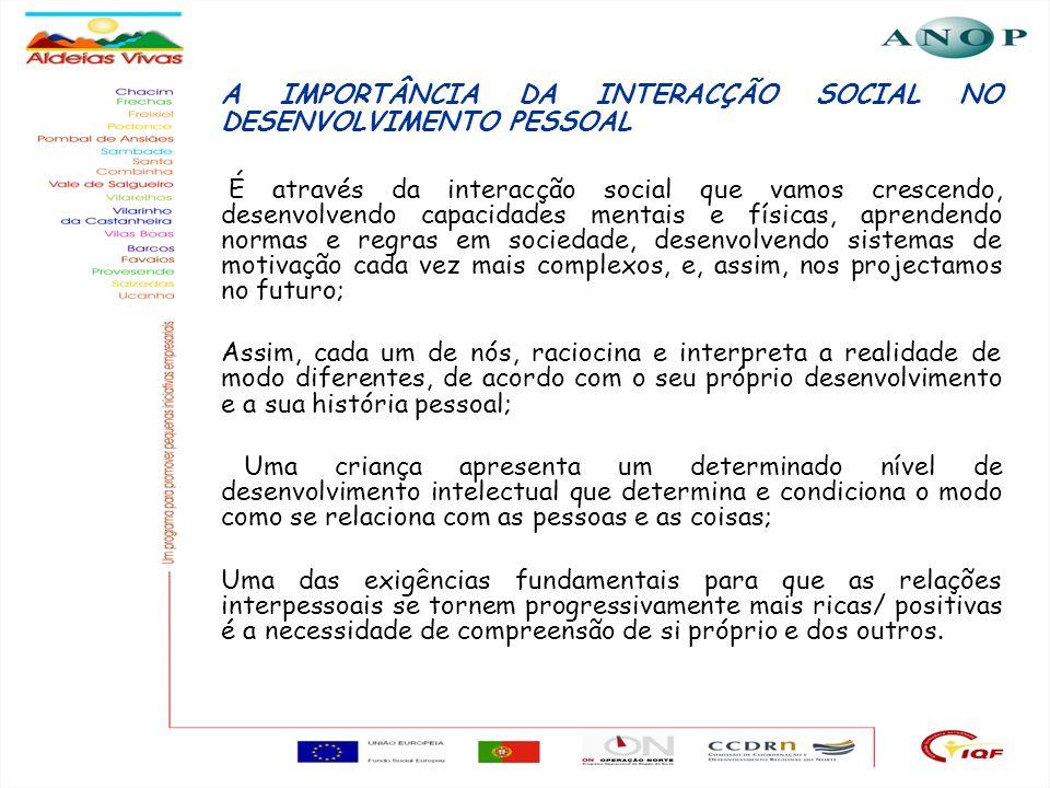 A IMPORTÂNCIA DA INTERACÇÃO SOCIAL NO DESENVOLVIMENTO PESSOAL