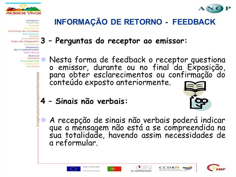 INFORMAÇÃO DE RETORNO - FEEDBACK