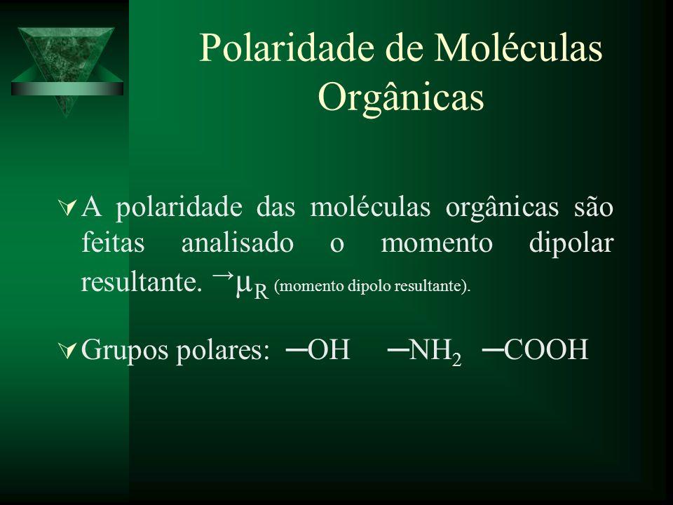 Polaridade de Moléculas Orgânicas
