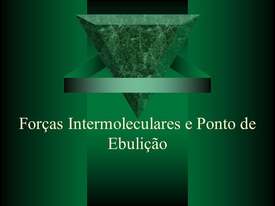 Forças Intermoleculares e Ponto de Ebulição