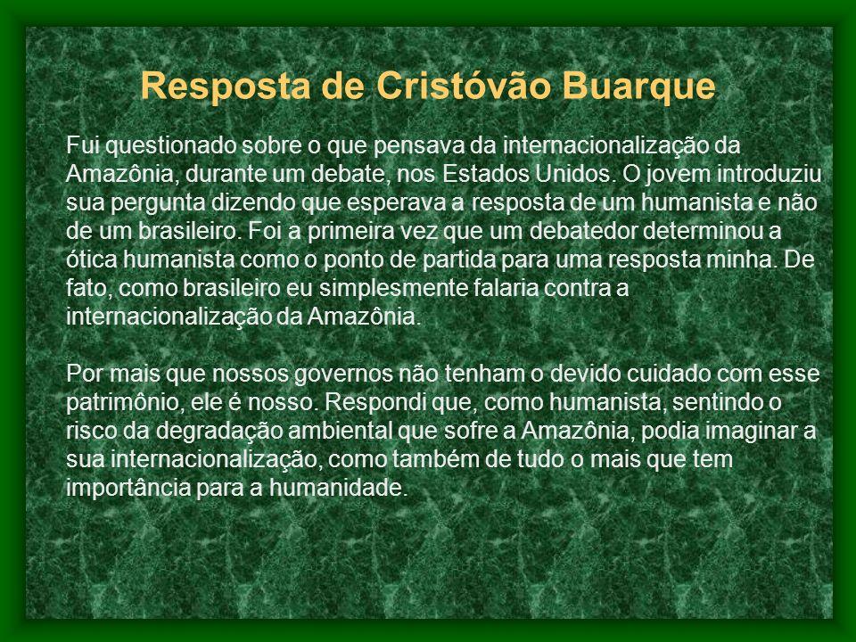 Resposta de Cristóvão Buarque