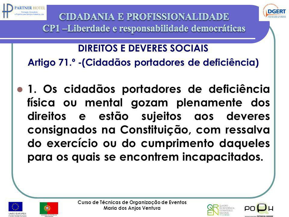 DIREITOS E DEVERES SOCIAIS
