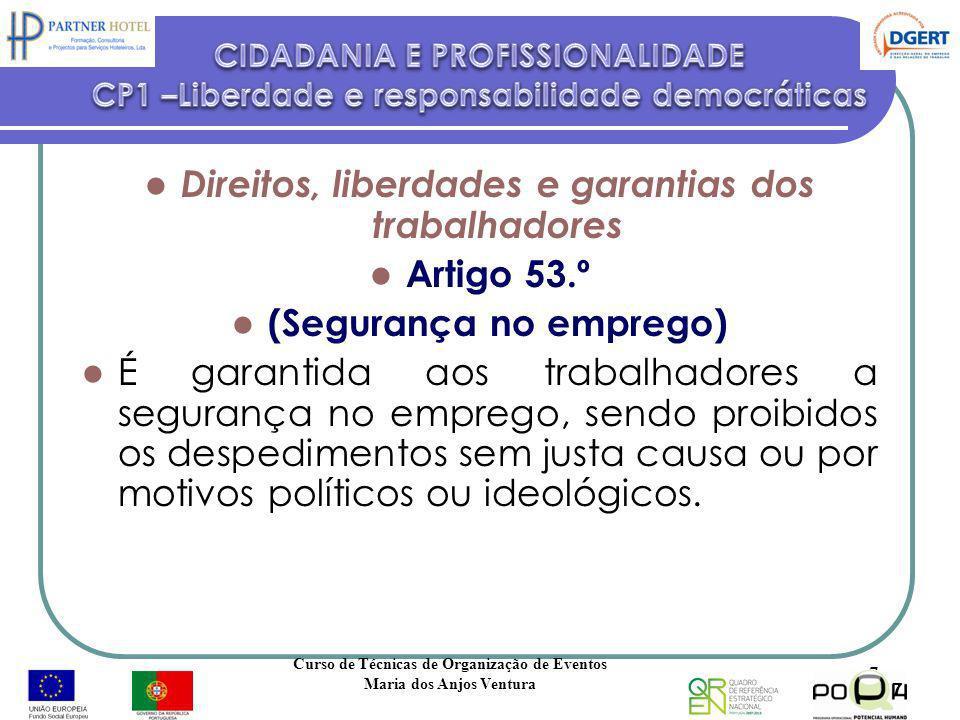 Direitos, liberdades e garantias dos trabalhadores