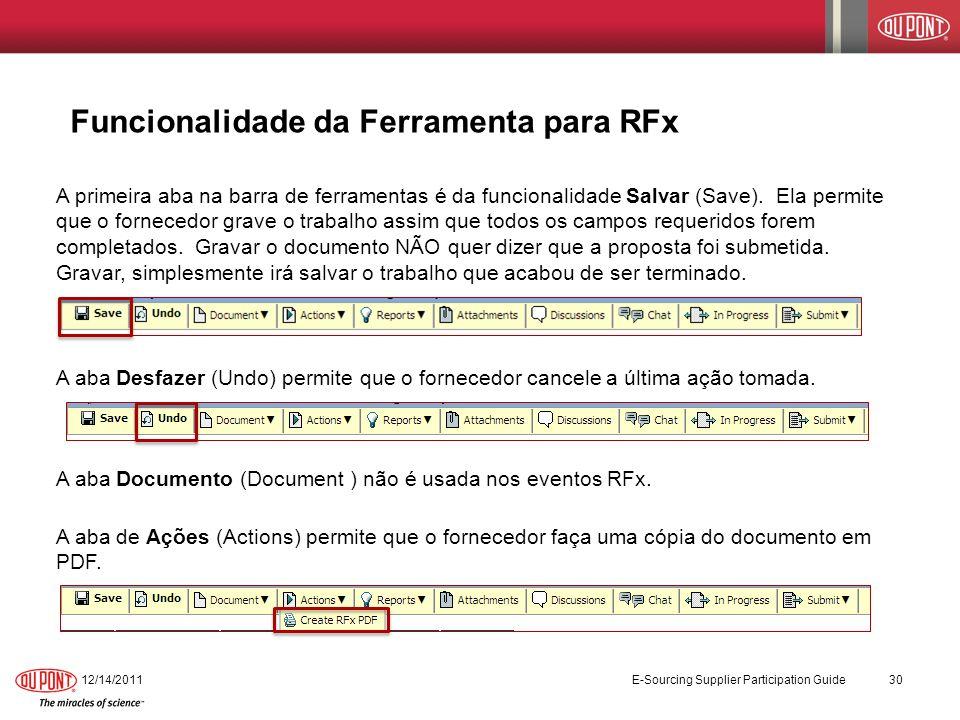 Funcionalidade da Ferramenta para RFx