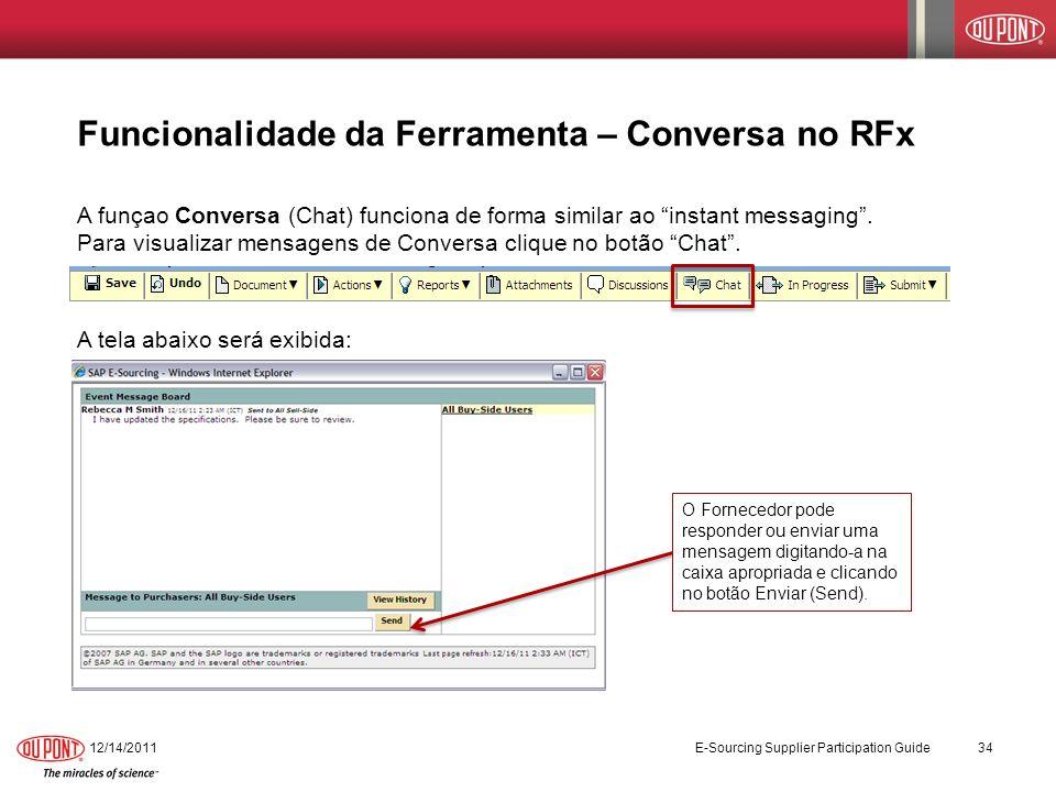 Funcionalidade da Ferramenta – Conversa no RFx