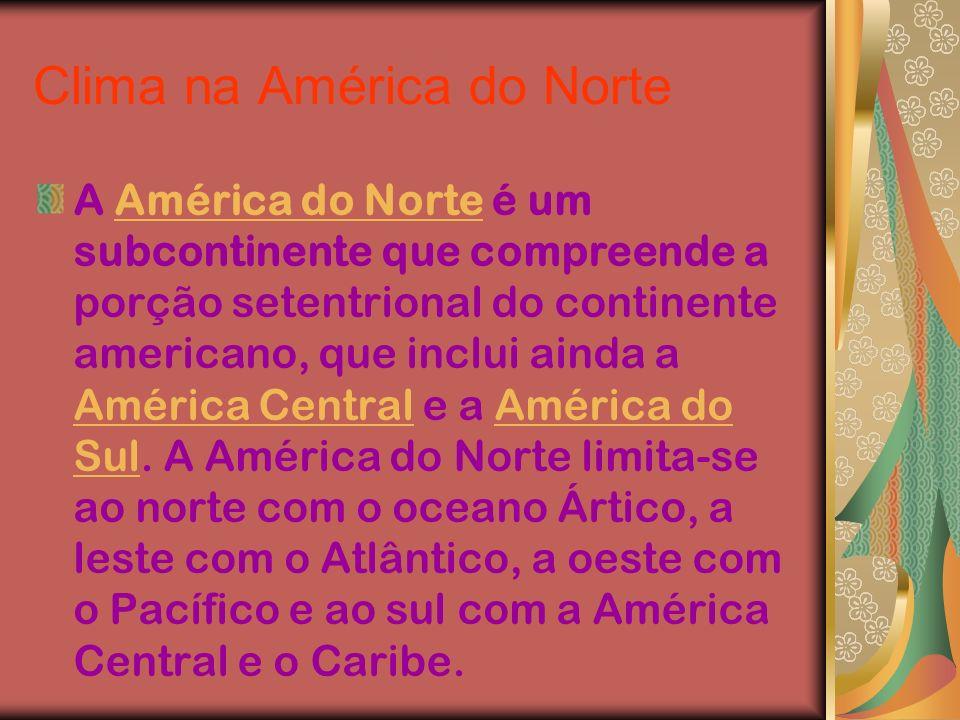 Clima na América do Norte