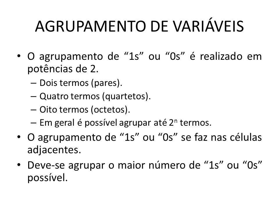 AGRUPAMENTO DE VARIÁVEIS