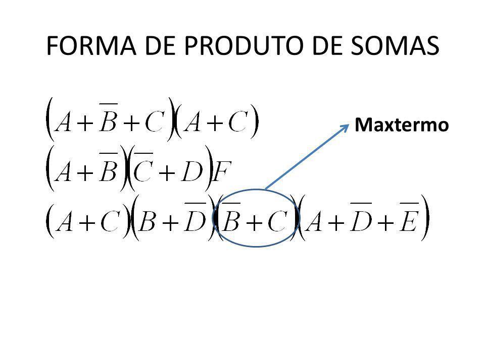 FORMA DE PRODUTO DE SOMAS