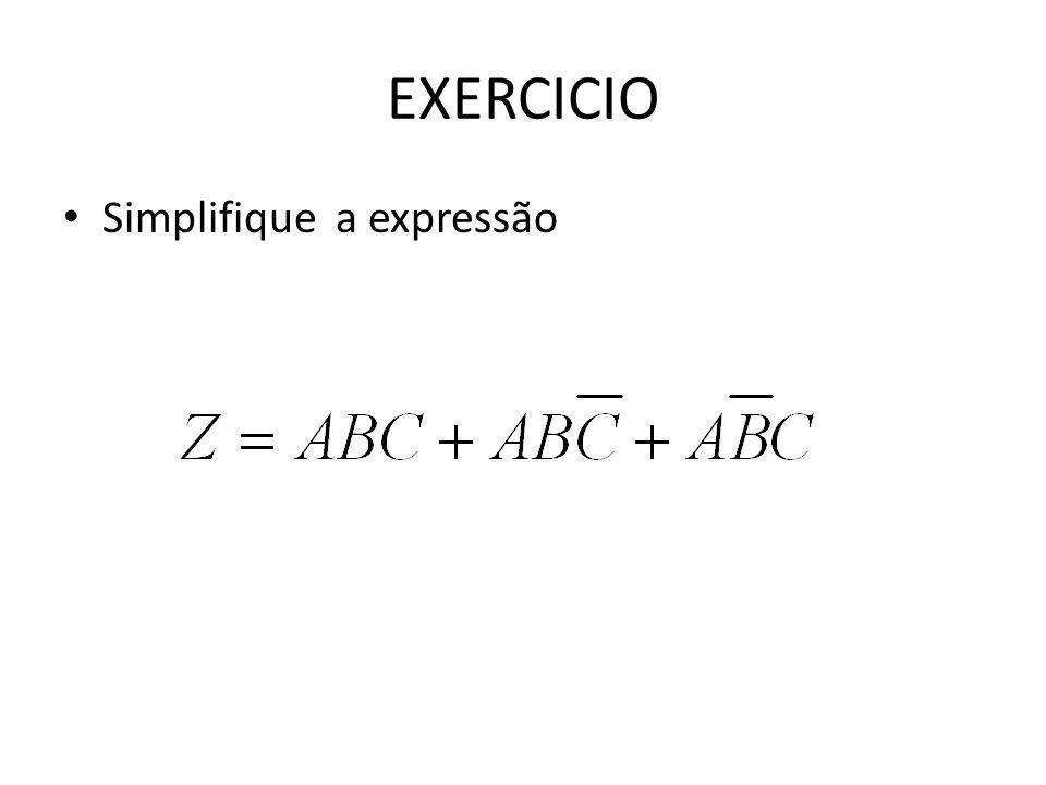 EXERCICIO Simplifique a expressão