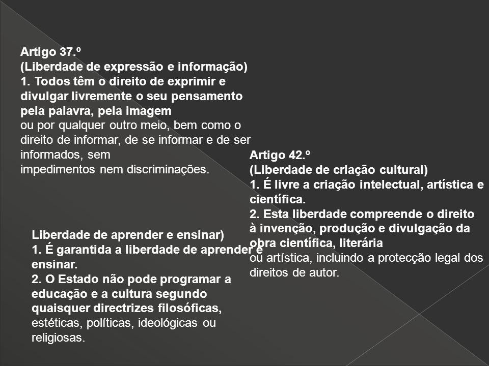 Artigo 37.º (Liberdade de expressão e informação)
