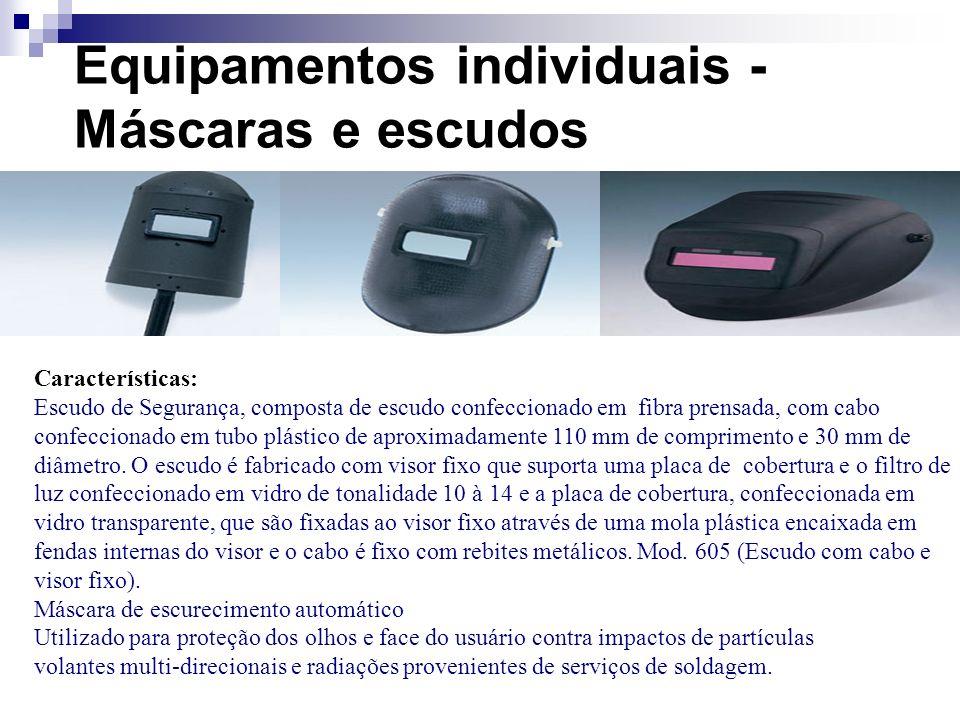 Equipamentos individuais - Máscaras e escudos