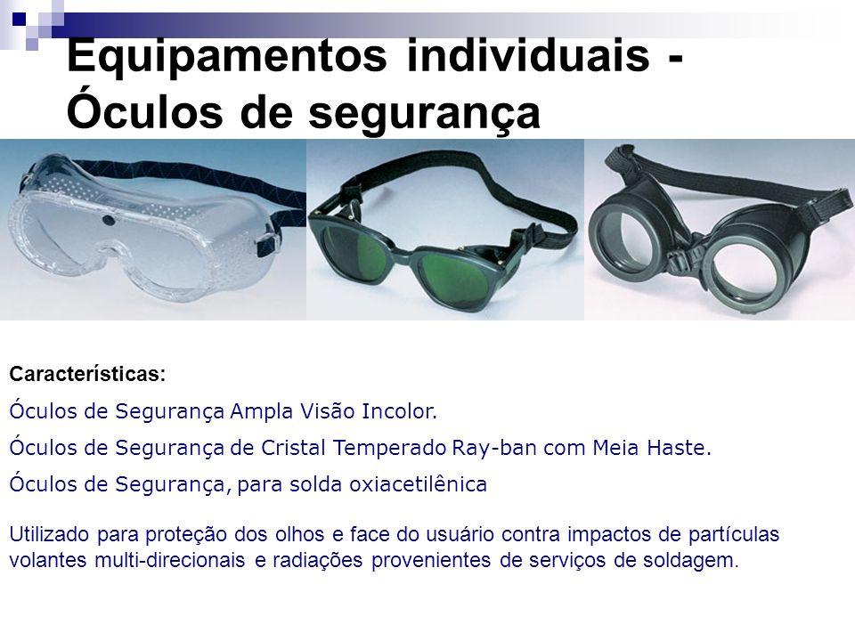 Equipamentos individuais - Óculos de segurança