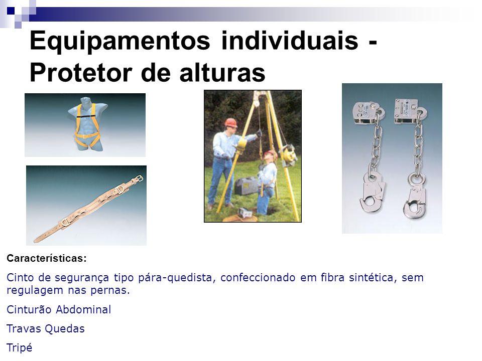 Equipamentos individuais - Protetor de alturas