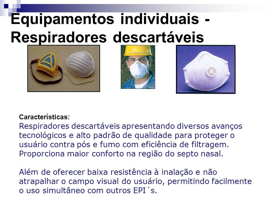 Equipamentos individuais - Respiradores descartáveis